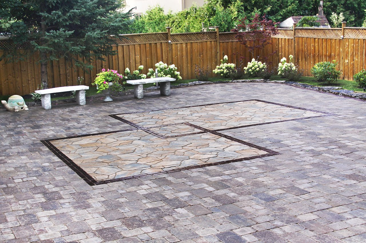 Backyard patio installation